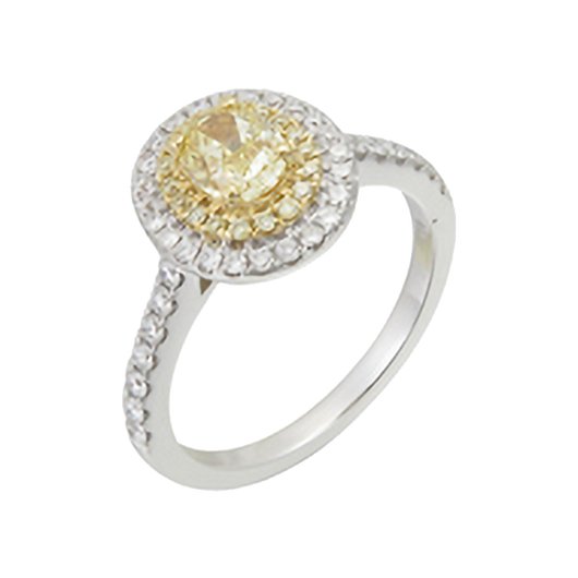 Marigold yellow diamond ring