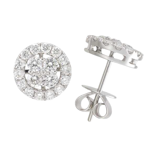18k Allegra diamond studs
