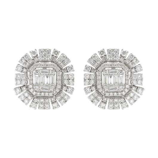 18k Avery diamond studs