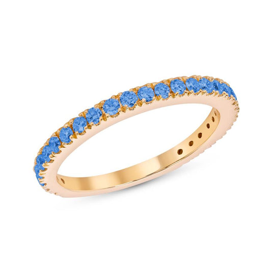 Topaz party ring