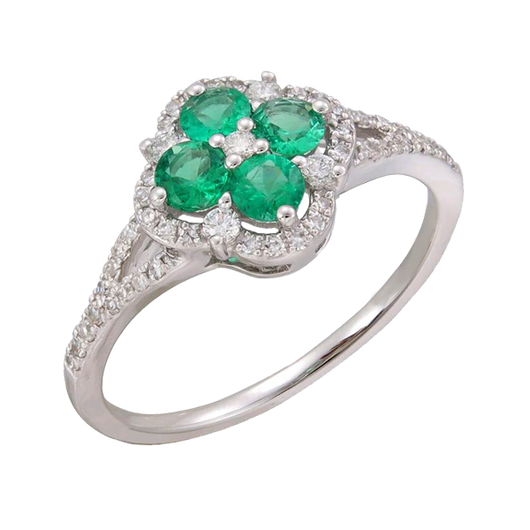 Alyssum emerald ring