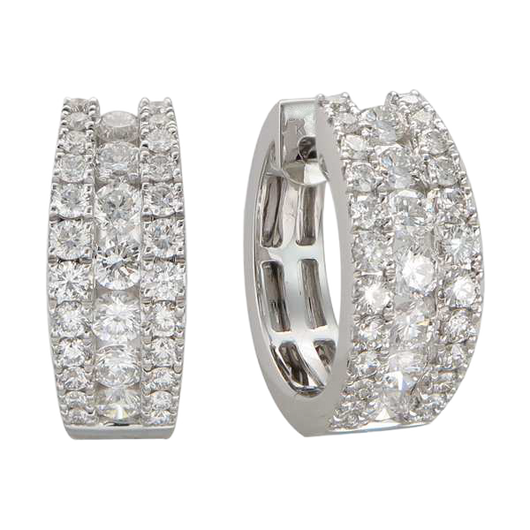 18k Helena diamond huggies