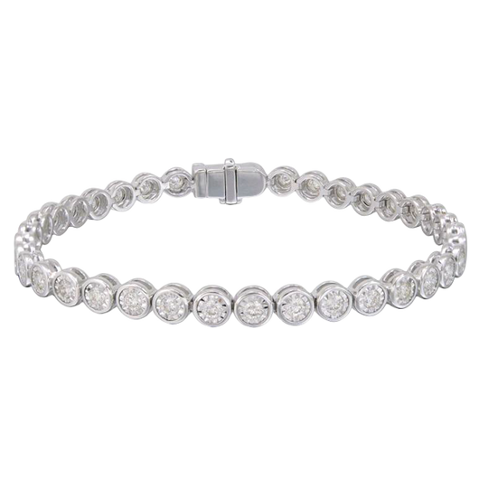 18k Illusion diamond bracelet
