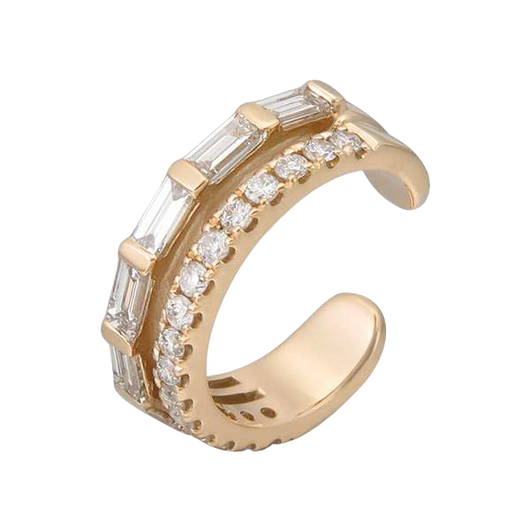 18k Jade diamond cuff