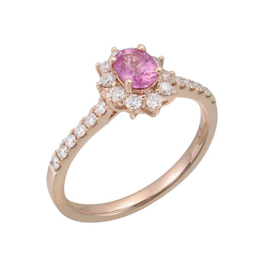 Bloom pink sapphire ring