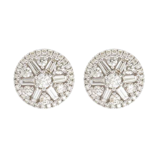 18k Paris diamond studs