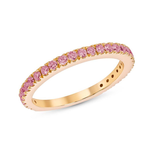 Dark pink sapphire party ring