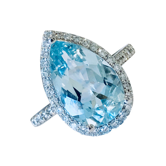 Aquamarine Isolda ring