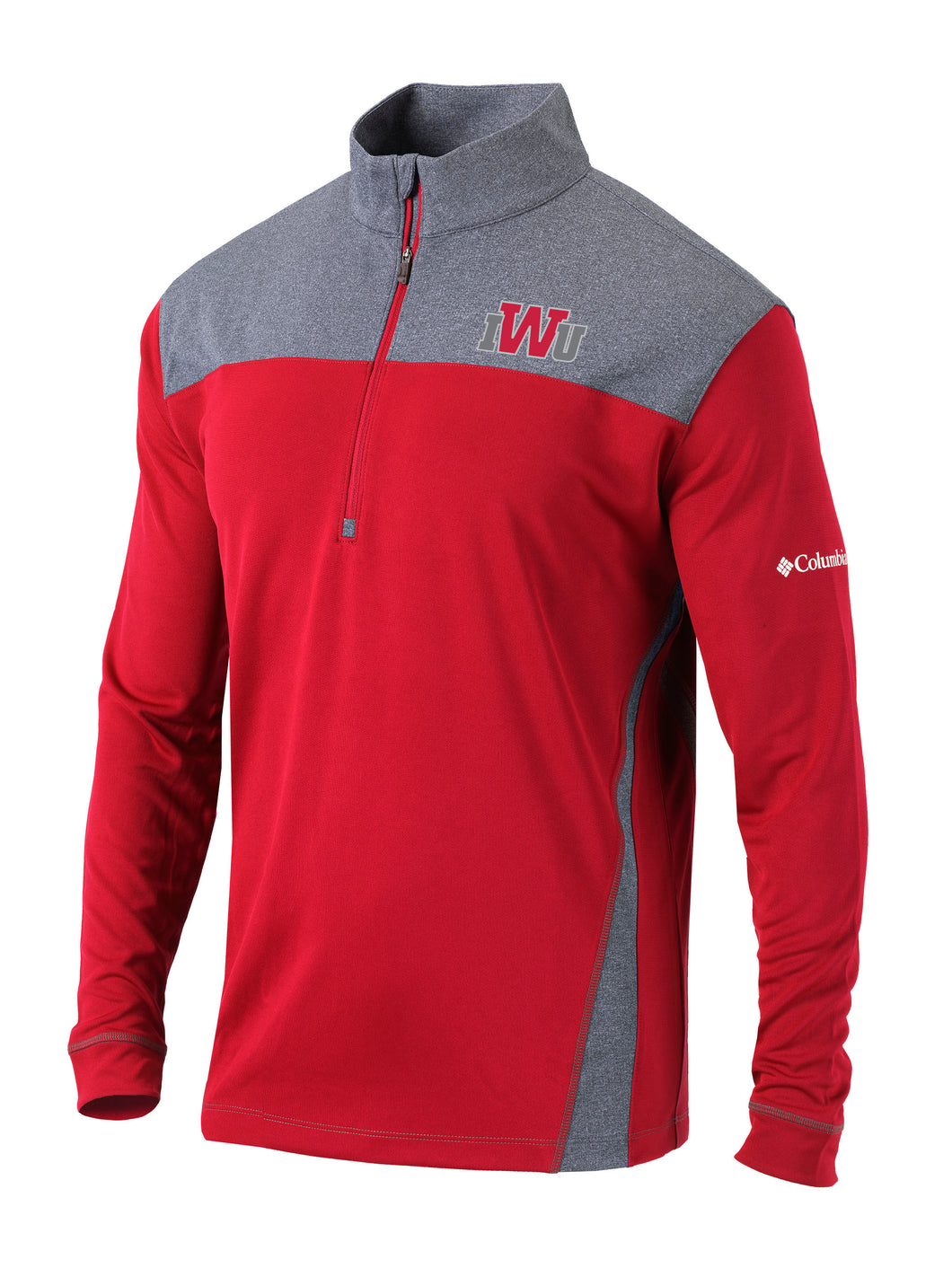 Columbia Men's Omni-Wick 1/4 Zip, Intense Red