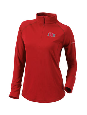 Columbia Women's Omni-Wick Flop Shot Pullover, Red