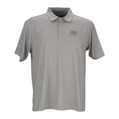Vantage Men's Micro Stripe Polo, Grey