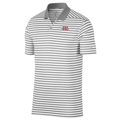 Nike Men's Victory Stripe Polo, Grey