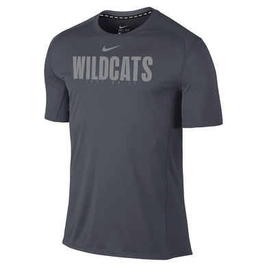 Nike Men's Miler Short Sleeve Tee, Anthracite