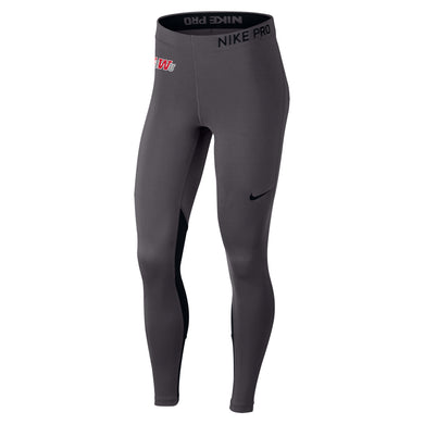 Nike Women's Pro Cool Tights, Charcoal Heather
