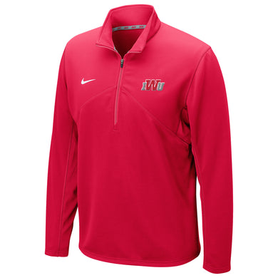 Nike Men's Dri-Fit Training 1/4 Zip Top, Red