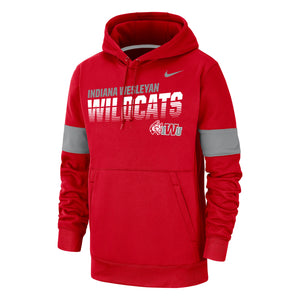 Nike Men's Therma Pullover Hoody, University Red/Flat Silver