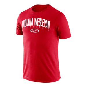 Nike Dri-Fit Basketball Short Sleeve Tee, Red