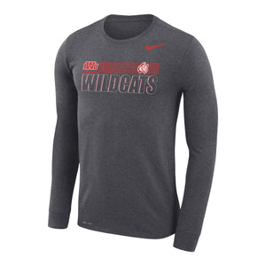 Nike Sideline 2020 Legend Travel LS Tee, Charcoal Heather