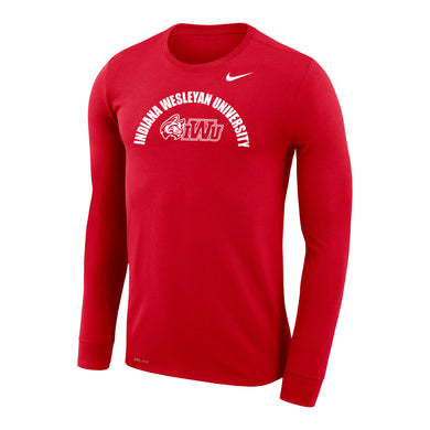 Nike Sideline 2020 Legend Travel LS Tee, Red
