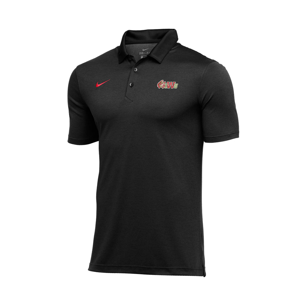 Nike Men's Sideline Dry Stripe Polo, Red/White/Black