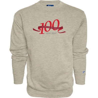 Blue 84 Men's Centennial Campbell Fleece Crew, Oatmeal