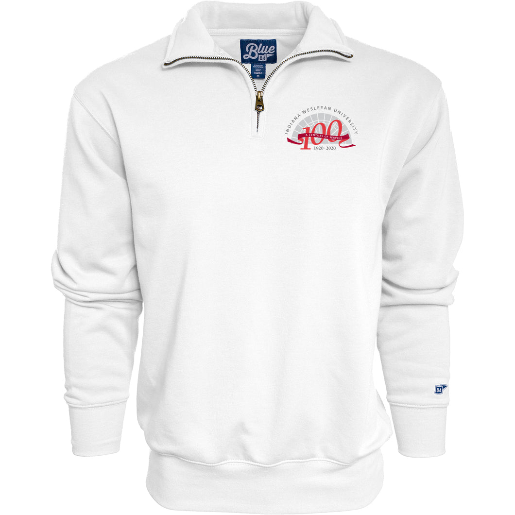 Blue 84 Men's Centennial Big Detroit 1/4 Zip, White