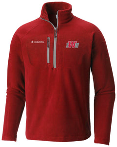 Columbia Men's Fast Trek III Half Zip Fleece, Red