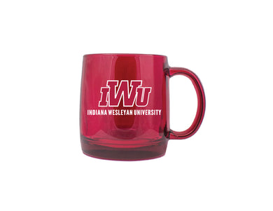 RFSJ Glass Mug, Red