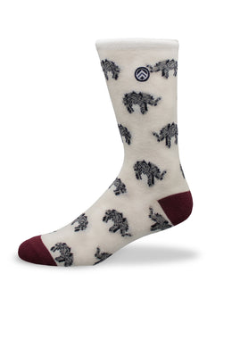 Sky Footwear Socks, Elephant Crew