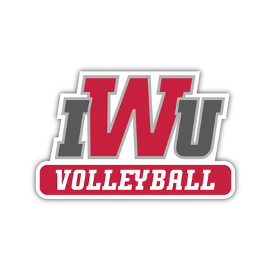 IWU Volleyball Decal - M12