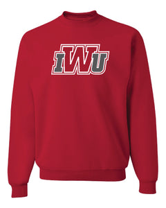 Core Cotton Crew Neck Sweatshirt, Red