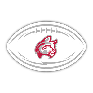 IWU White Football Decal - D13
