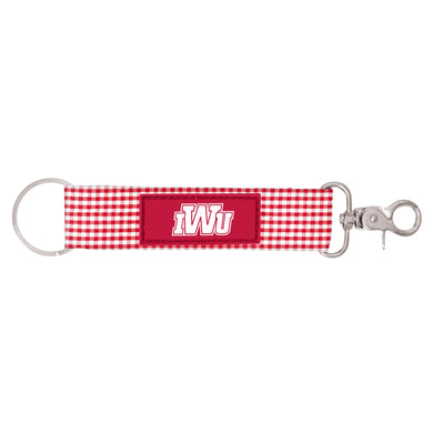 Spirit Newport Gingham Key Strap, Red