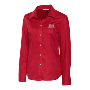 Cutter & Buck Women's Easy Care Nailshead Button Down, Cardinal Red