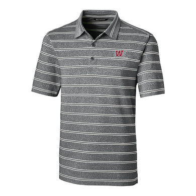 Cutter & Buck Men's Forge Heather Stripe Polo, Black