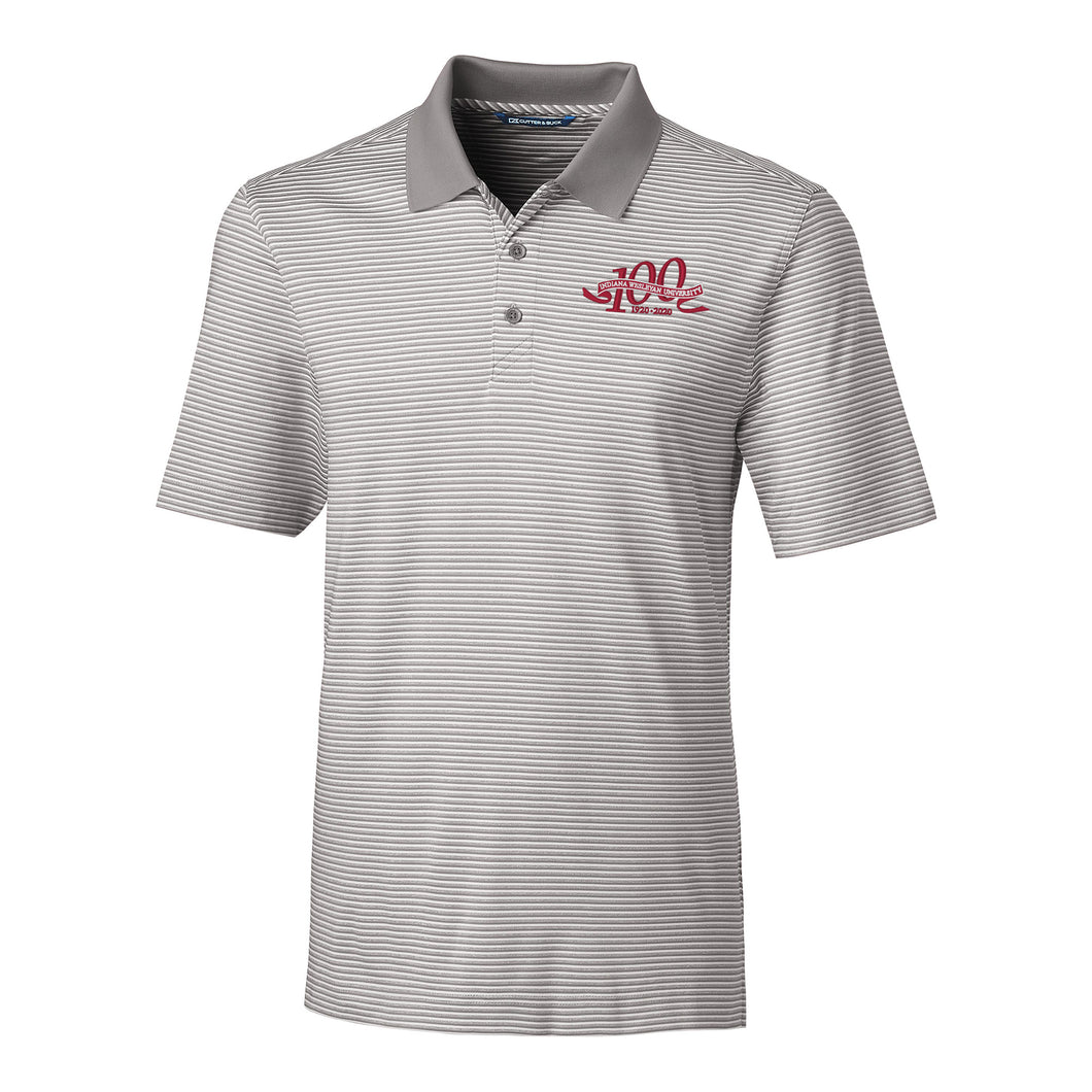 Cutter & Buck Men's Centennial Forge Polo Tonal Stripe, Polished