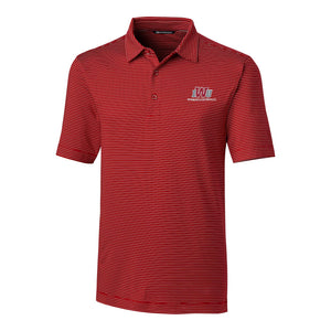 Cutter & Buck, Men's Polo Forged Pencil Stripe, Cardinal Red