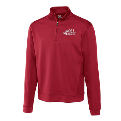 Cutter & Buck Men's Centennial Dry Edge 1/4 Zip, Cardinal