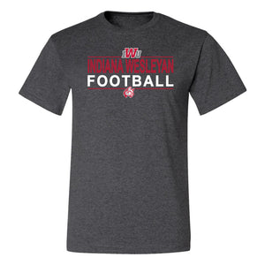 2021 Football Tee, Black Heather