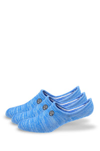 Sky Footwear No Show Socks, Blue