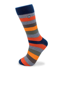 Sky Footwear Socks, Orange Striped