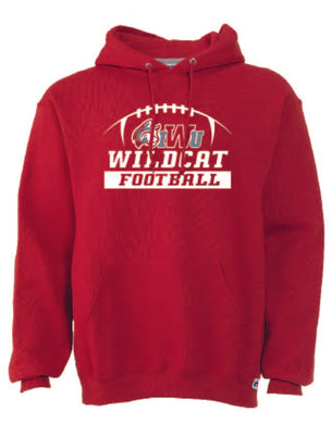Men's Hooded Sweatshirt, Wildcat Football, True Red