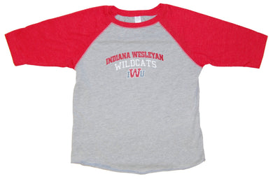 Little King Toddler/Kids Baseball Tee, Oxford/Red