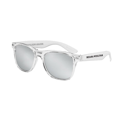 Spirit Outdoor Crystalline Mirrored Sunglasses, Clear W/ Silver Lens