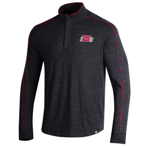 Under Armour Piped Charged Cotton 1/4 Zip, Black