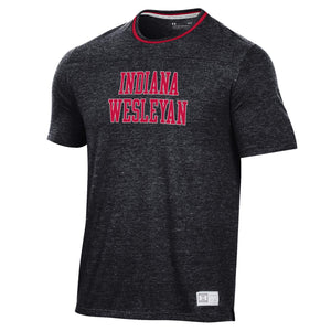 Under Armour Men's Gameday Double Ringer Tee, Black/Red