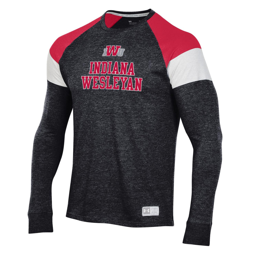 Under Armour Men's Game Day Long Sleeve Tee, Black/Red