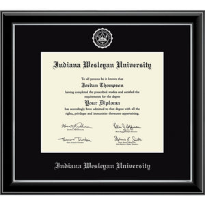 Church Hill Classics Silver Embossed Diploma Frame, Black