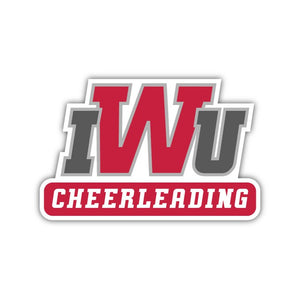 IWU Cheerleading Decal - M19
