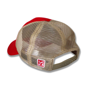 The Game Enzyme Washed Trucker Hat, Red